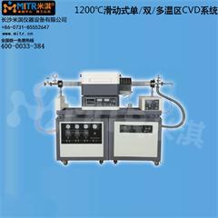 1200°C滑动式单/双温区CVD系统 真空管式电炉