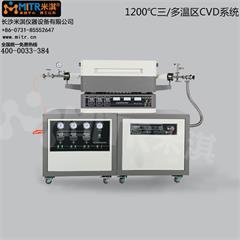 1200°C三/多温区CVD系统 真空管式电炉