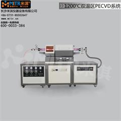 1200°C双温区PECVD系统 真空管式电炉